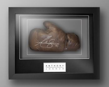 Anthony Joshua Signed Retro Vintage Leather Boxing Glove In Our  Box Frame