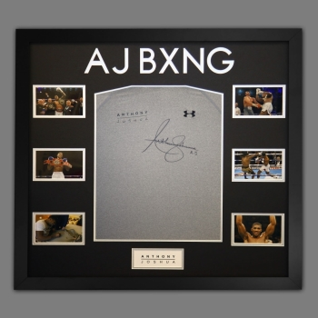 Anthony Joshua Hand Signed Official AJ Bxng T-Shirt In A Frame. D