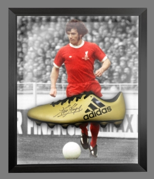 Kevin Keegan Signed Gold Adidas Football Boot In An Acrylic Dome Frame : A