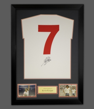 Kevin Keegan No 7 Signed England Football Shirt In A Frame Presentation