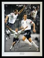 Michael Owen England Signed 12x16 Football Photograph