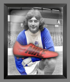 *New* Trevor Francis Signed Red Puma Football Boot In A Acrylic Dome Frame: A