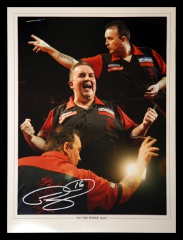 Phil Taylor Signed Darts 12x16 Photograph : A