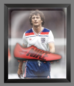 *New* Trevor Francis Signed Red Puma Football Boot In A Acrylic Dome Frame: B