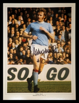 Rodney Marsh Manchester City Signed 12x16 Football Photograph