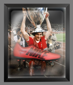 *New* Trevor Francis Signed Red Puma Football Boot In A Acrylic Dome Frame: D