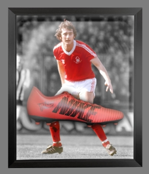 *New* Trevor Francis Signed Red Puma Football Boot In A Acrylic Dome Frame: E