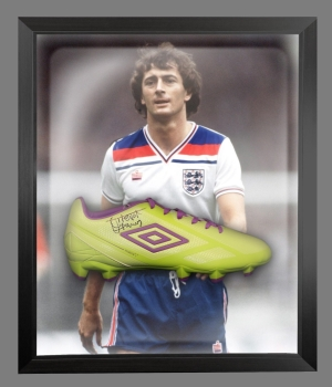 Trevor Francis Signed Green Umbro Football Boot In A Acrylic Dome Frame: D