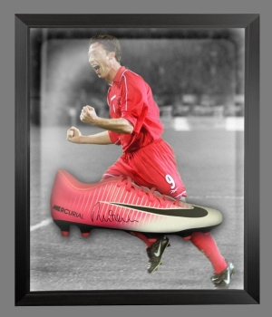 Robbie Fowler Signed Nike Football Boot In An Acrylic Dome frame
