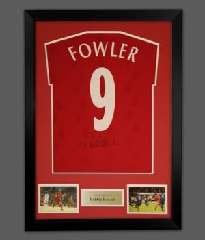 Robbie Fowler Signed No 9 Liverpool Football Shirt In A Frame Presentation