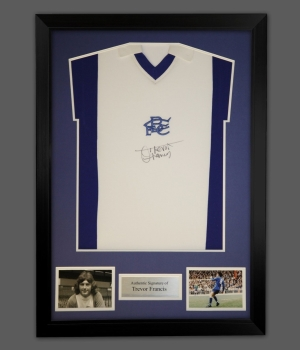 Trevor Francis Signed Birmingham City Football Shirt In A Frame