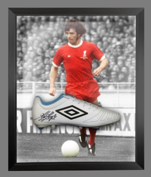 Kevin Keegan Signed White Umbro Football Boot In An Acrylic Dome Frame : A