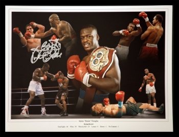James Buster Douglas Signed Boxing 12x16 Montage