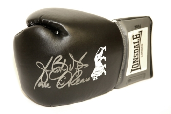 "James ""Buster"" Douglas Hand Signed Black Lonsdale Boxing Glove"