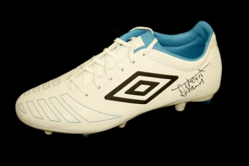 Trevor Francis Hand Signed White Umbro Football Boot