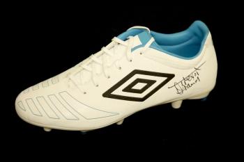 *New* Trevor Francis Hand Signed White Umbro Football Boot