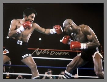 Robert Duran Signed Boxing 12x16 Photograph : E