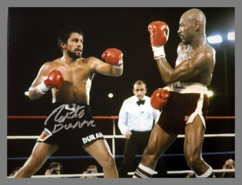 Robert Duran Signed Boxing 12x16 Photograph : D
