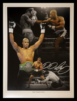 Daniel Dubois  Signed Boxing 12x16 Montage: Signed In Silver