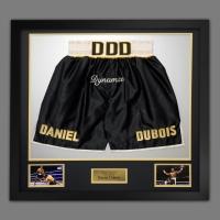 Daniel Dubois Hand Signed And Framed Custom Made Boxing Trunks : A
