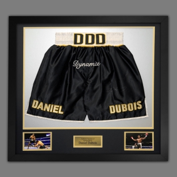 Daniel Dubois Hand Signed And Framed Custom Made Boxing Trunks : A