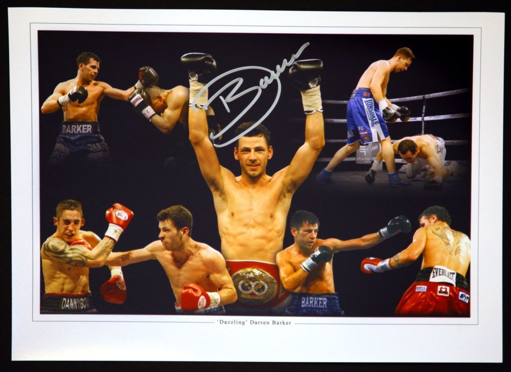Darren Barker Signed 12x16 Boxing Montage Photograph