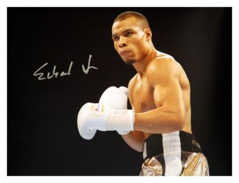 Chris Eubank Jr Signed Boxing Large Photograph : B
