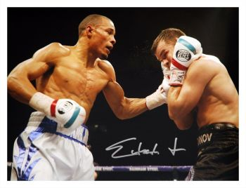 Chris Eubank Jr Signed Boxing Large Photograph : C
