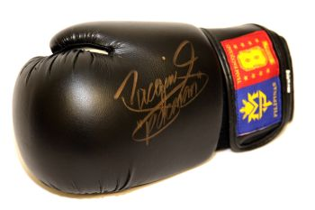 Manny Pacquiao Hand Signed Black  Boxing Glove