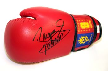Manny Pacquiao Hand Signed Red Boxing Glove