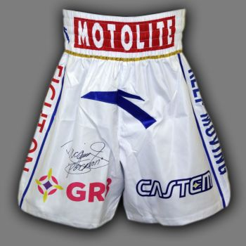 Manny Pacquiao Hand Signed Custom Made Boxing Trunks : D