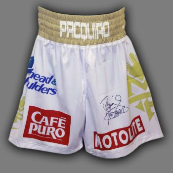 Manny Pacquiao Hand Signed Custom Made Boxing Trunks : F