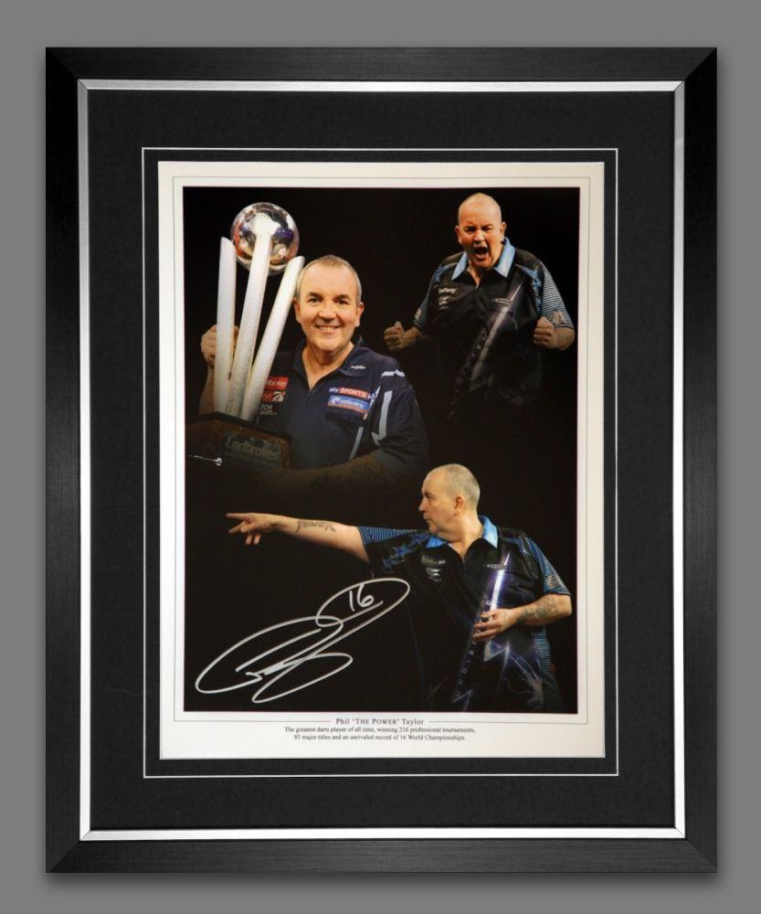 Phil Taylor Signed And Framed 12x16 Photograph :A