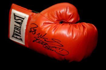 Frank Bruno Hand Signed Red Everlast Boxing Glove