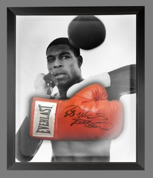 Frank Bruno Signed Red Boxing Glove Presented In A Dome Frame : C