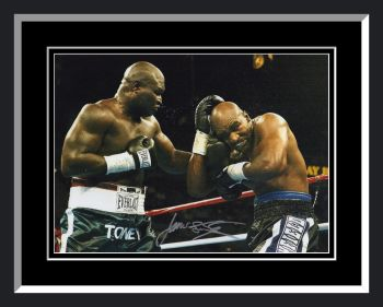 James Toney Signed And Framed Boxing Photograph: A