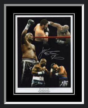 James Toney Signed And Framed Boxing Photograph: B
