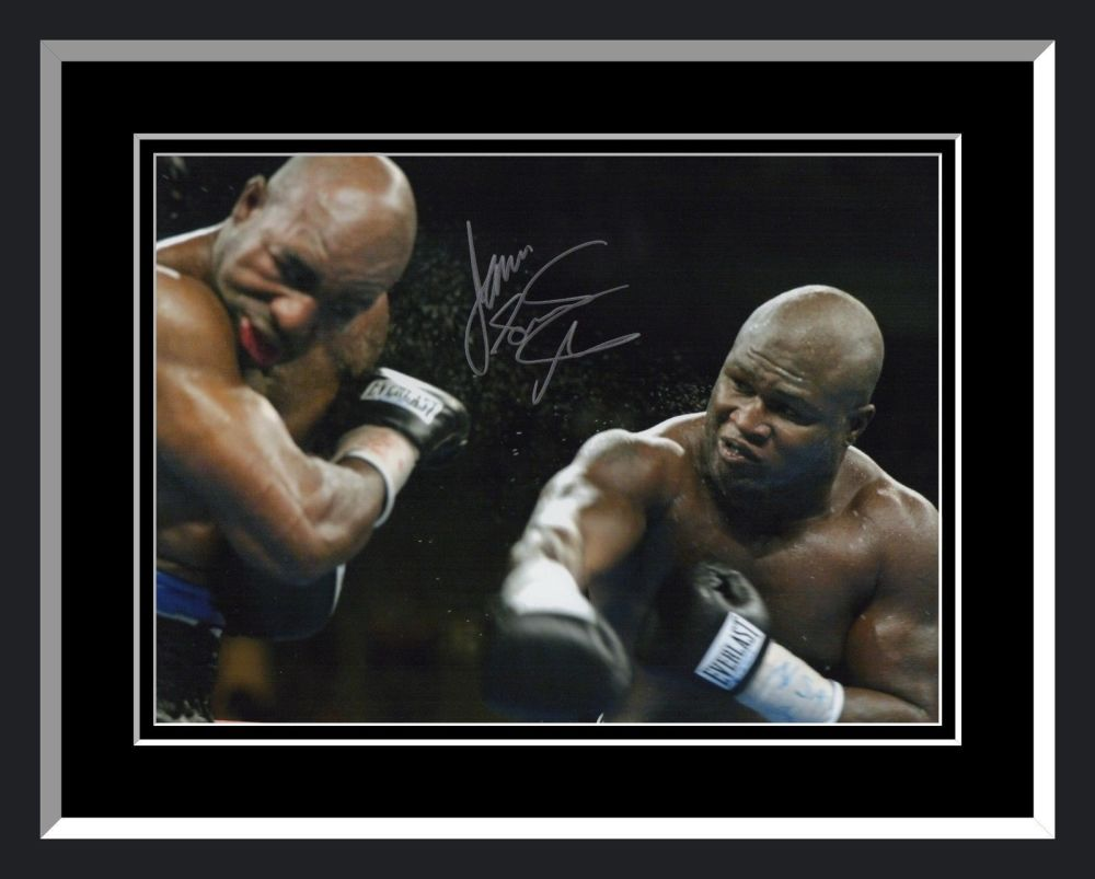 James Toney Signed And Framed Boxing Photograph: D