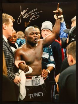 James Toney Boxing  Signed 12x16 Photograph : E
