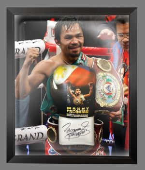 Manny pacquiao Signed Boxing Glove Presented In A Dome Frame