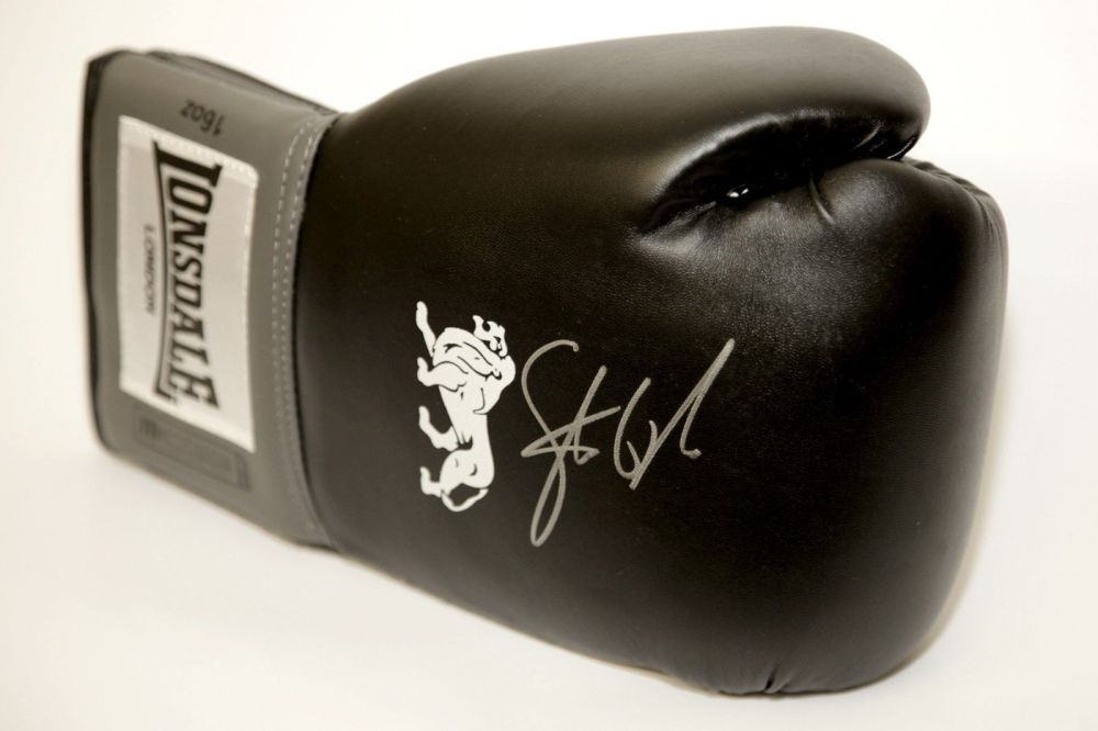 Steve Collins Hand Signed Black Boxing Glove