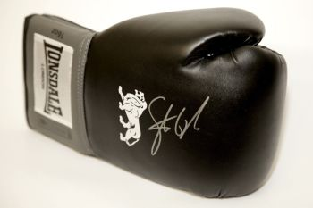 Steve Collins Hand Signed Black Boxing Glove