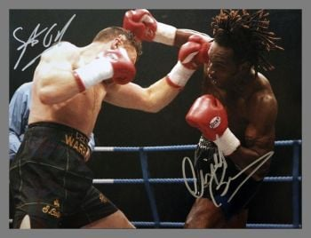 Nigel Benn And Steve Collins Dual Signed Boxing 12x16 Photograph : C