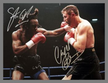Nigel Benn And Steve Collins Dual Signed Boxing 12x16 Photograph : B