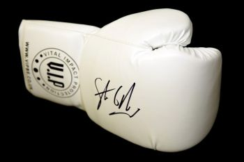 Steve Collins Hand Signed White Vip Boxing Glove
