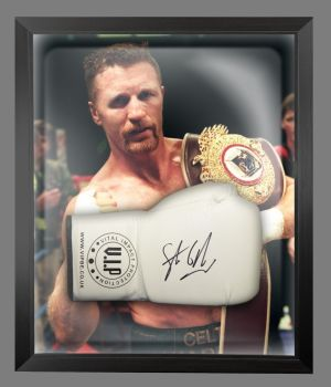 Steve Collins Signed White VIP Boxing Glove Presented In A Dome Frame : A