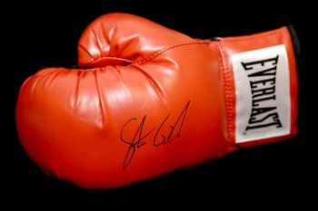Steve Collins Hand Signed Red Boxing Glove