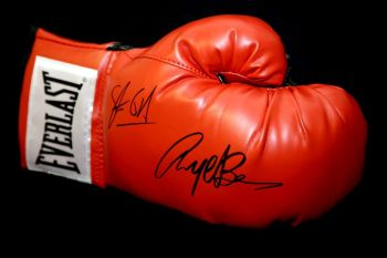 Steve Collins Nigel Benn And Dual Signed Red Boxing Glove