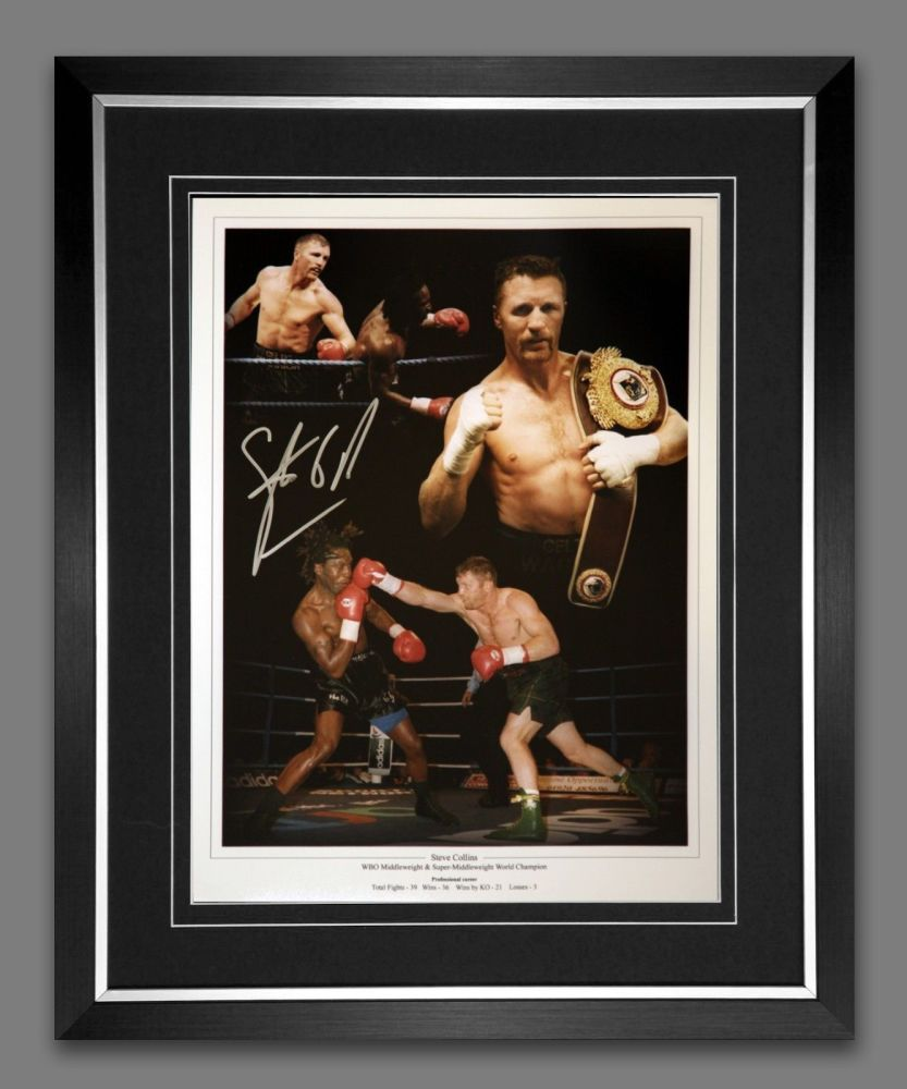 Steve Collins Signed And Framed 12x16 Boxing Photograph