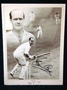 Brian Close Signed England Cricket Photograph